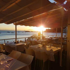 restaurante en roses almadrava girona costa brava puesta de sol